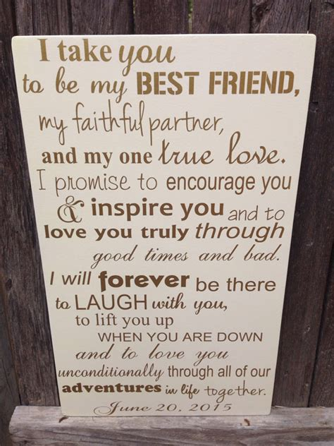 Wedding Vows For by Anniversary Gift For Him Wedding Vows Sign By