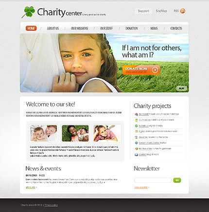 charity site templates toronto web design services from techtouch