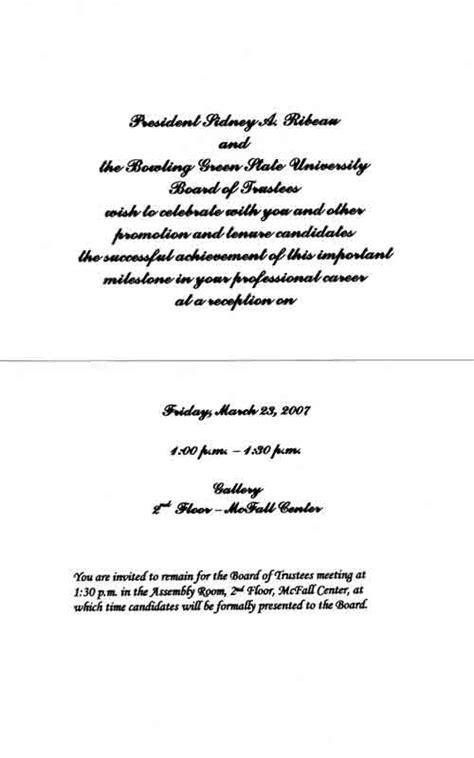 Response Congratulation Letter Bgsu Promotion Tenure Review