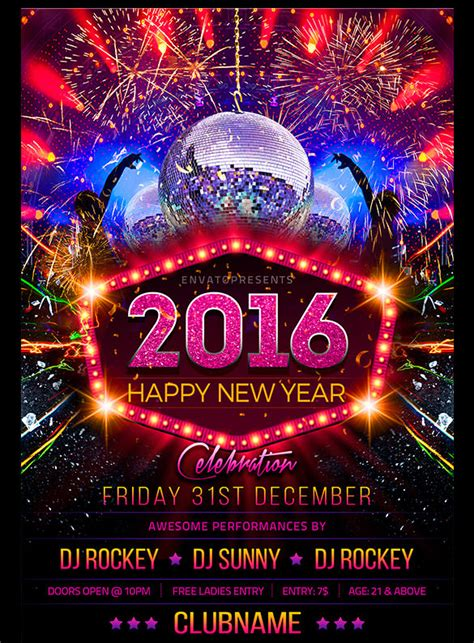 26 New Year Flyer Templates Free Psd Eps Indesign Word Format Download Free Premium New Year Flyer Template Free