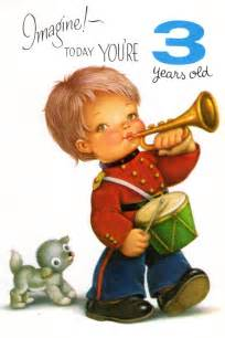 items similar to cheek boy birthday card for three 3 year child vintage 1960 s on etsy