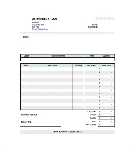 legal services invoice template word robinhobbs info