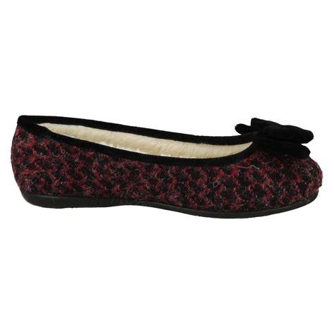 stylish house slippers ladies clarks warmlined ballerina style house slippers adella angel ebay