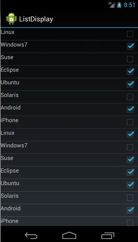 android list using lists in android listview tutorial