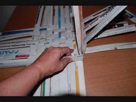 como hacer cestas de papel de periodico como hacer canastas imagui