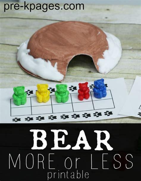 kindergarten activities bears math games bears and math on pinterest