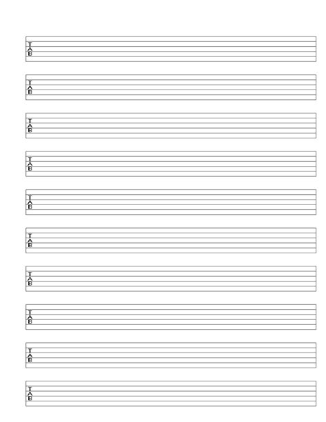 printable staff paper for guitar search results for printable blank guitar tab sheet music