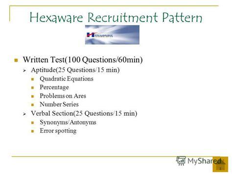 pattern aptitude test questions презентация на тему quot cus recruitment patterns ppt