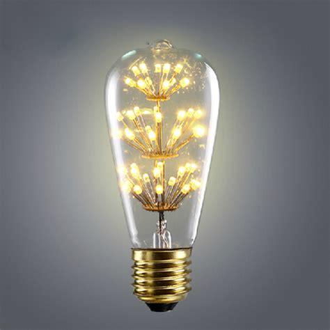 Vintage Led Light Bulbs Retro Vintage Starry Led Edison Bulbs E27 220v St64