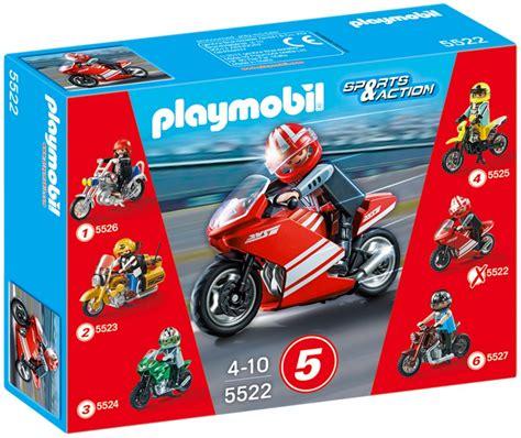 Mobile Motocross Motorrad by Playmobil Sports 5522 Pas Cher Moto De Course