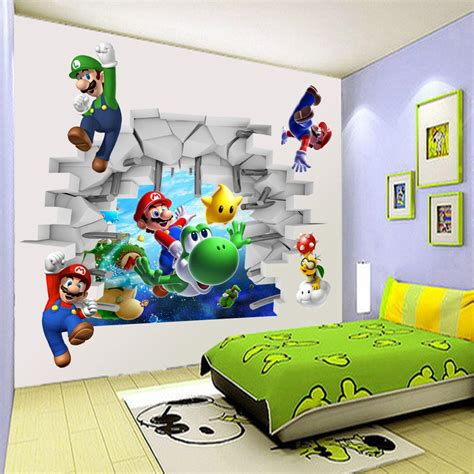 super mario bros bedroom popular mario wall mural buy cheap mario wall mural lots from china mario wall mural