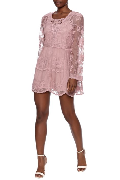 mono reno mauve lace tunic from pittsburgh by the vintage