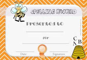 spelling bee certificate template search results for spelling bee award certificate