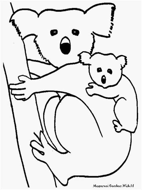 Mewarnai Gambar Koala Imut | Mewarnai Gambar