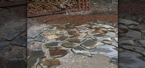 how to lay a flagstone patio 171 landscaping wonderhowto