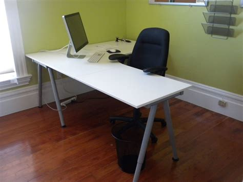 Grey L Shaped by Catchy White And Grey Diy L Shaped Desk With Black Chair