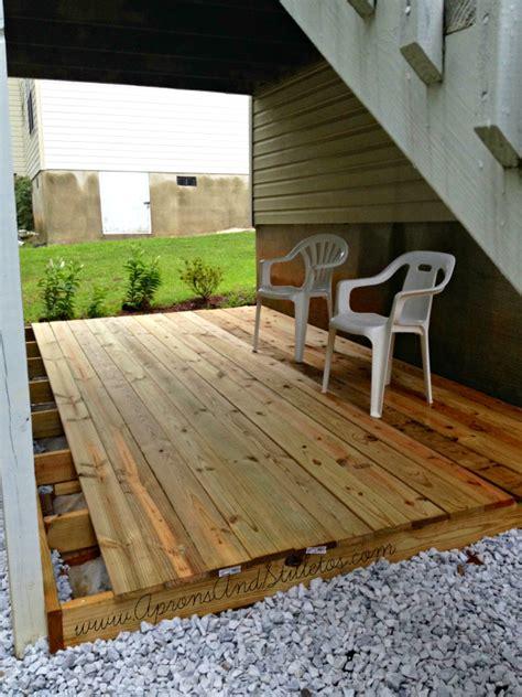 diy ground level deck update