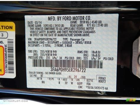 2014 ford fusion se ecoboost color code photos gtcarlot