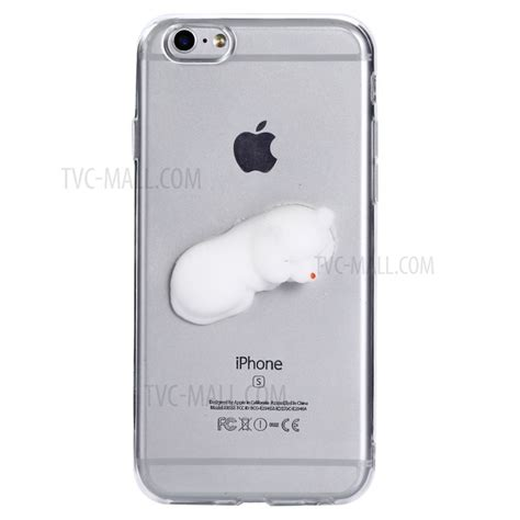 Iphone 6 6s 3d Silicone Black Tpu Acrylic Hardcase 82269 3d pinch silicone clear tpu squishy phone for