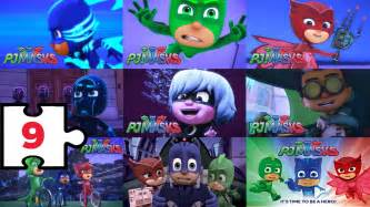 9 puzzle characters pj masks special game children
