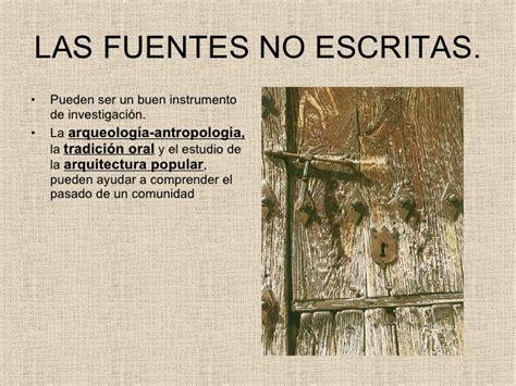 imagenes de fuentes historicas no escritas las fuentes no documentales como instrumentos para la