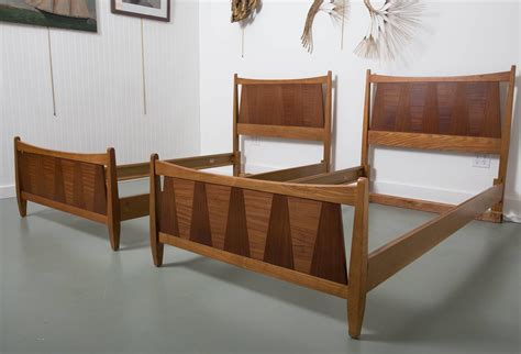 mid century modern twin bed pair of mid century danish modern teak twin beds at 1stdibs