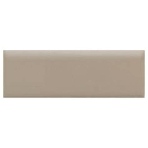 daltile semi gloss uptown taupe 2 in x 6 in ceramic bullnose wall tile discontinued
