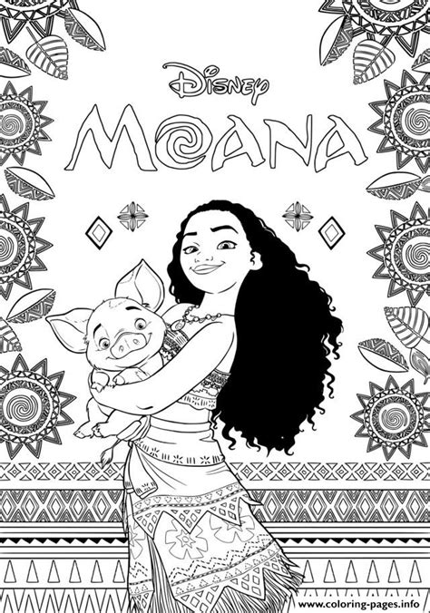 coloring pages info book moana disney coloring pages printable