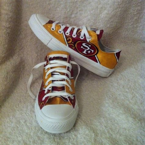 Handmade Shoes San Francisco - custom painted san francisco 49ers shoes 8 5 from sydney s