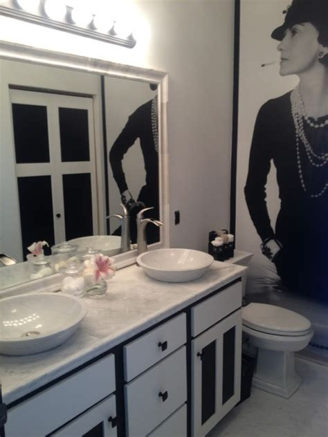 coco chanel inspired bathroom by sarah f gordon