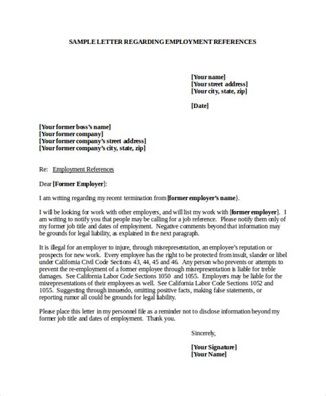 Reference Letter For Former Employee Template 7 Reference Letter Templates Free Sle Exle