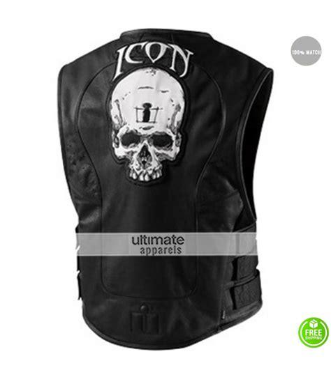 motorcycle jacket vest icon regulator skull leather motorcycle vest