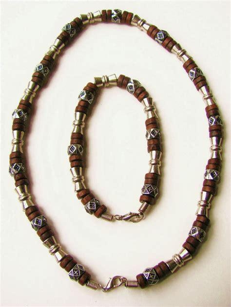 mens beaded jewelry salem beaded necklace bracelet s surfer style