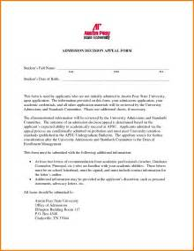 Appeal Letter Template For Secondary School Appeal Letter For College Russianbridesglobal