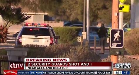 las vegas shooting guard gunman shoots dead two security guards at las vegas casino