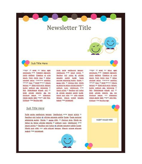 50 Free Newsletter Templates For Work School And Classroom Newsletter Outline Template