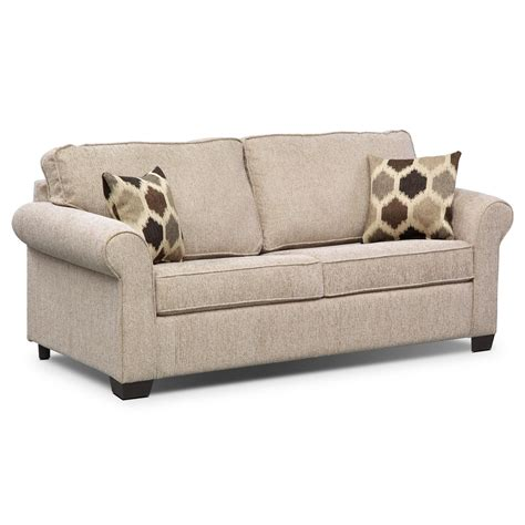sleeper couch fletcher full memory foam sleeper sofa beige value