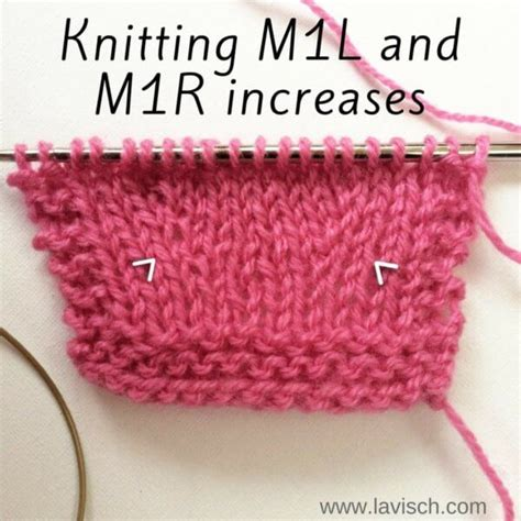 m1r knit tutorial knitting m1l and m1r increases la visch designs