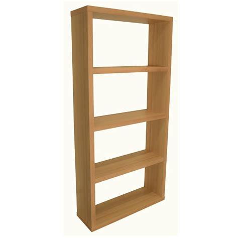 Bastian Wooden Wide Bookcase In Beech With 3 Shelf 28559 Beech Bookshelves