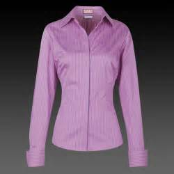 Pink and purple salvador stripe slim fit women s shirt button cuff