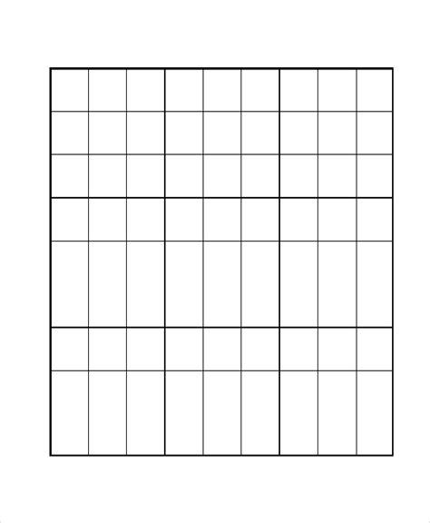 sudoku template 8 sudoku templates free sle exle format free
