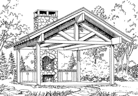 shelter house plans picnic shelter 2 sets southern living house plans
