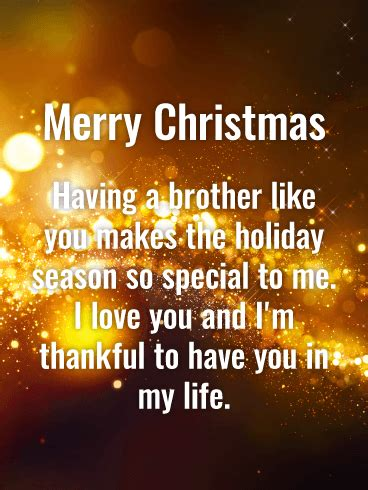 brother   special  holiday season      life  sending