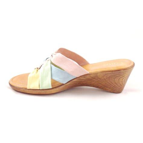 mule sandal lotus pastel multi open toe wedge mule sandal lotus from
