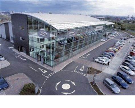 audi dealer glasgow world s largest audi centre opens on a high note next