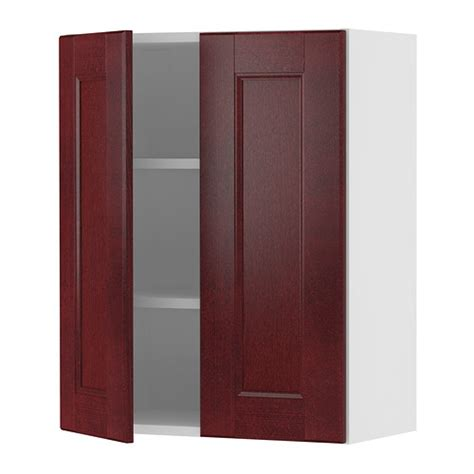 ikea kitchen cabinets doors akurum wall cabinet with 2 doors birch effect ramsj 246