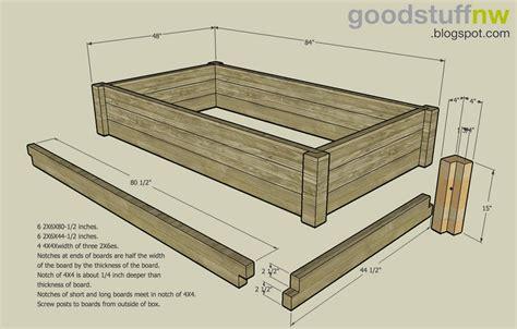 Planter Box Design Plans by Building An Elevated Garden Bed Interior Design Ideas