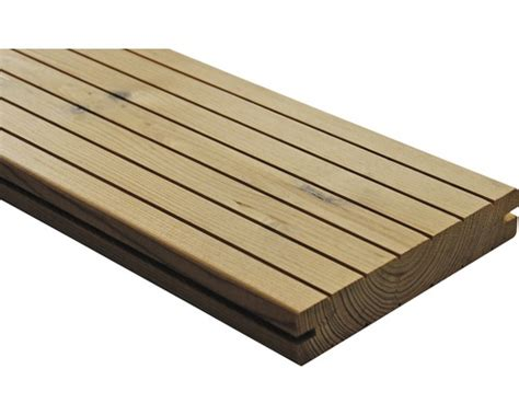 planche pour terrasse thermo pin 25x137x3000 mm hornbach