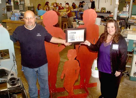 local woodworking classes mc woodworking class makes lifesize cutouts being used to