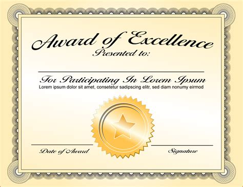 templates for awards certificates 6 certificate award template bookletemplate org